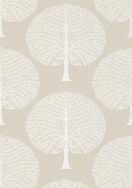 Thibaut Mulberry Tree Wallpaper in Natural